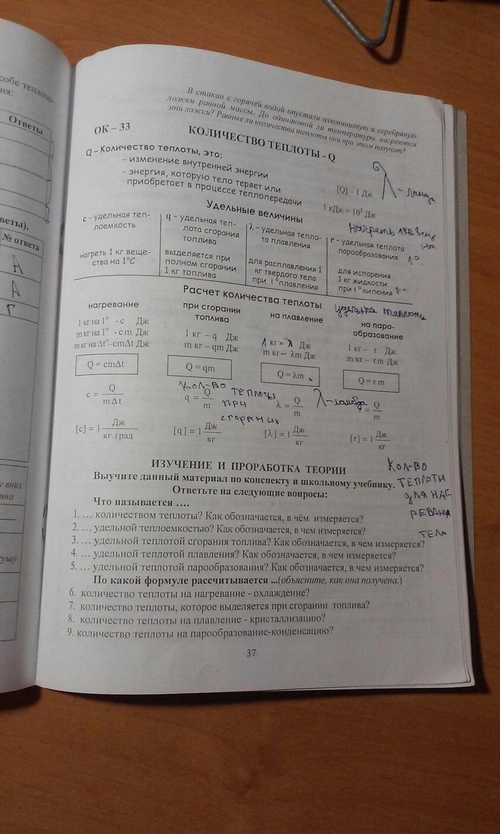 решебник по физике 7 класс лифарь.св тарарина и.н