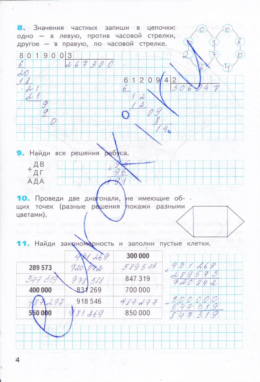 гдз по информатике 4 класс бененсон 2 часть рабочая тетрадь ответы