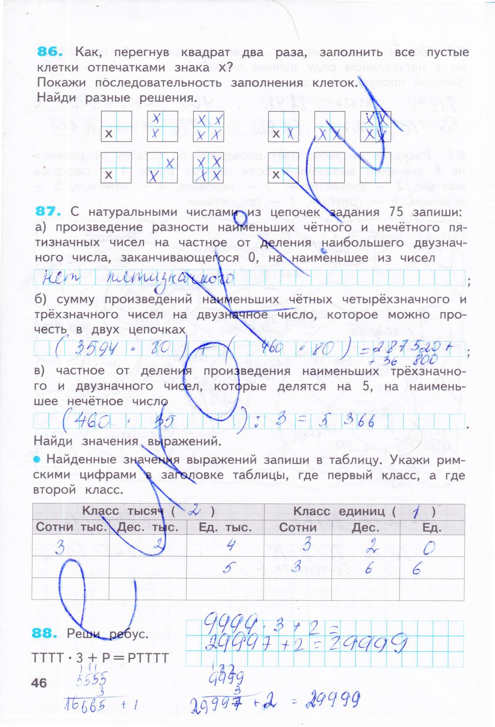 4 задания по итина готовые домашние математике класс бененсон