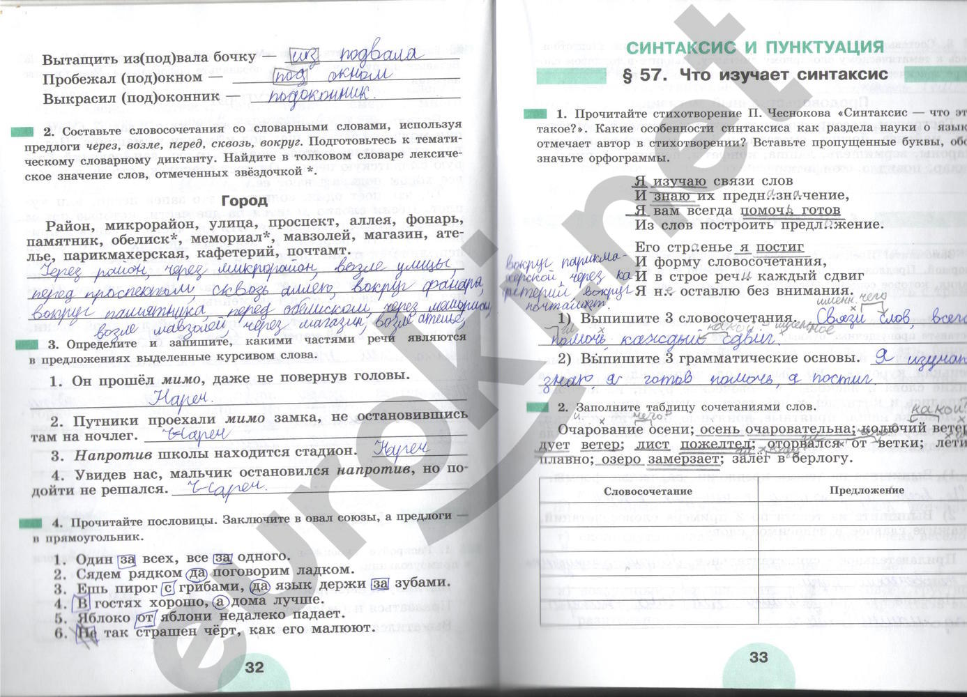 1 5 рабочей тетради рыбченкова ответы класс русскому языку по решебник часть