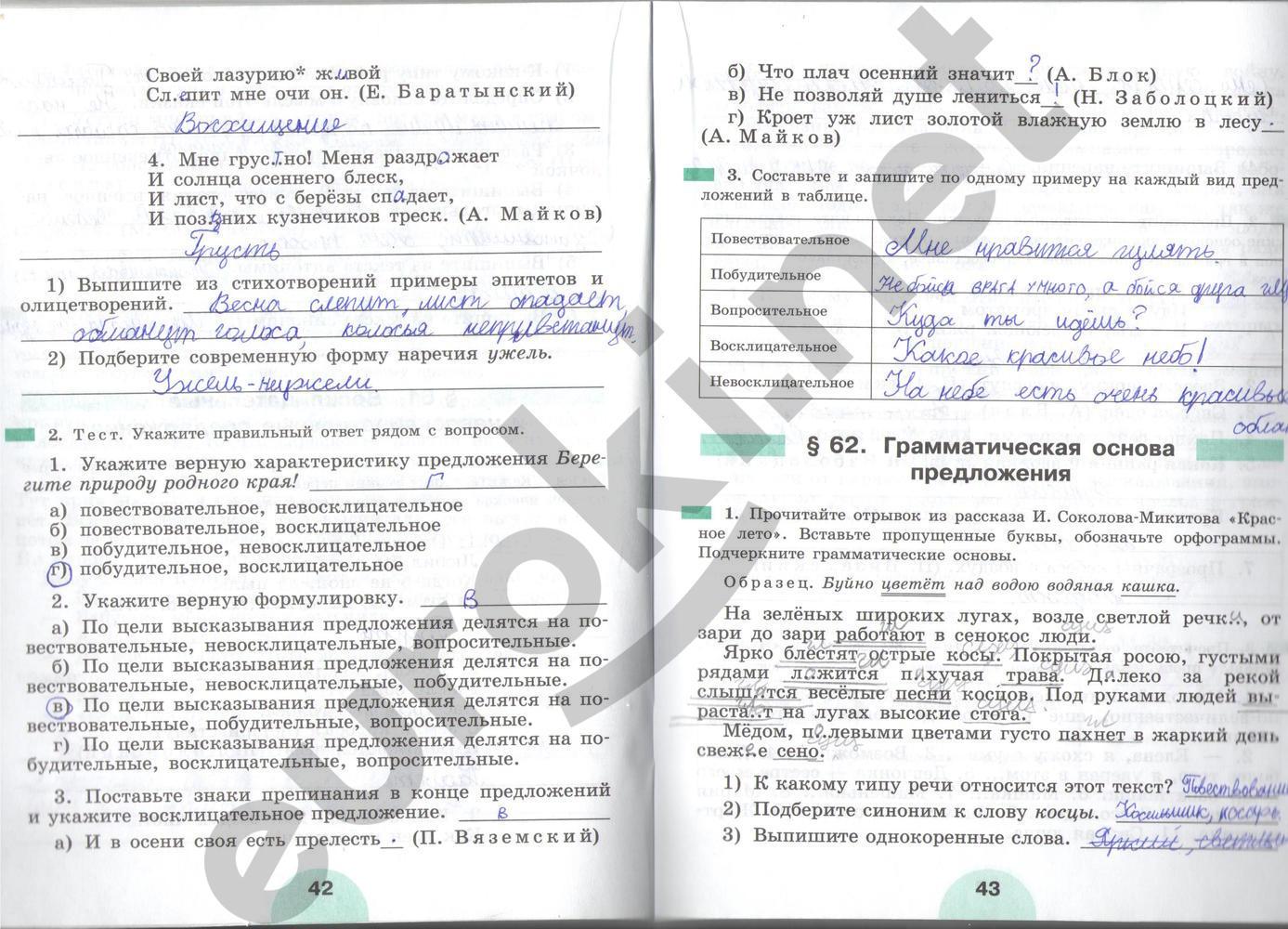Гдз по русскому языку рыбченкова роговик 5 класс