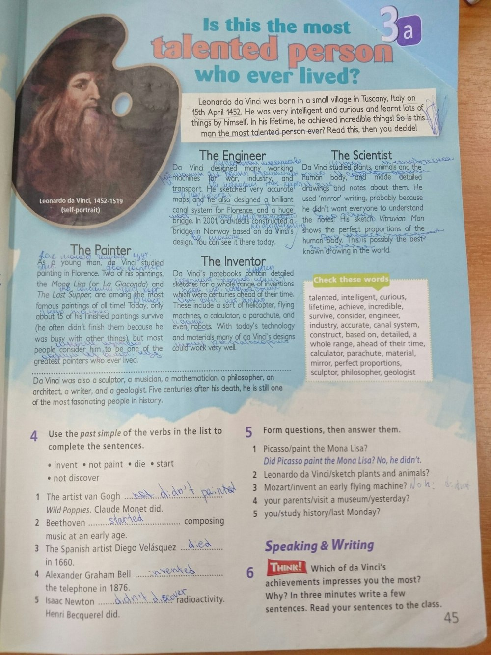 45 языку гдз класс по английскому