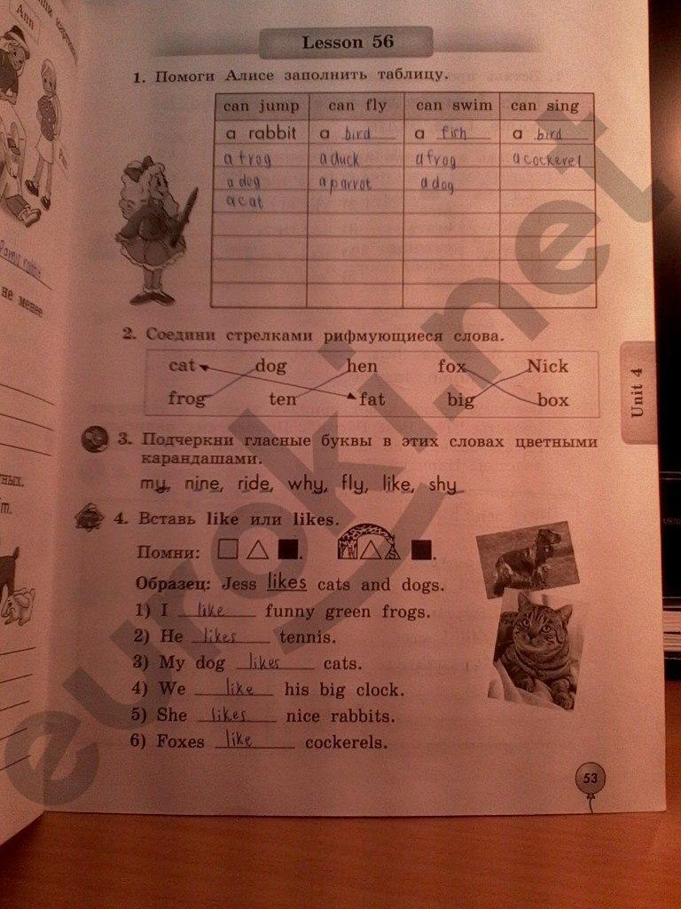 Гдз по английскому языку 2 класс денисенко трубанева