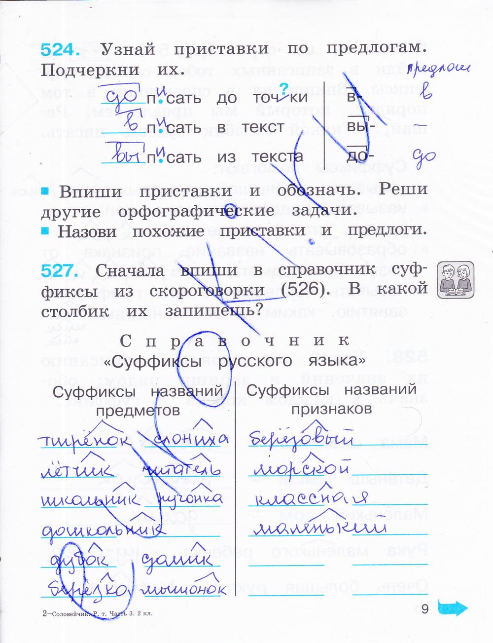 Русский язык 3 класс 2018 соловейчик кузьменко 2 часть решебник