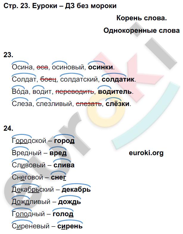 ГДЗ решебник по русскому языку 3 класс рабочая тетрадь Песняева Анащенкова
