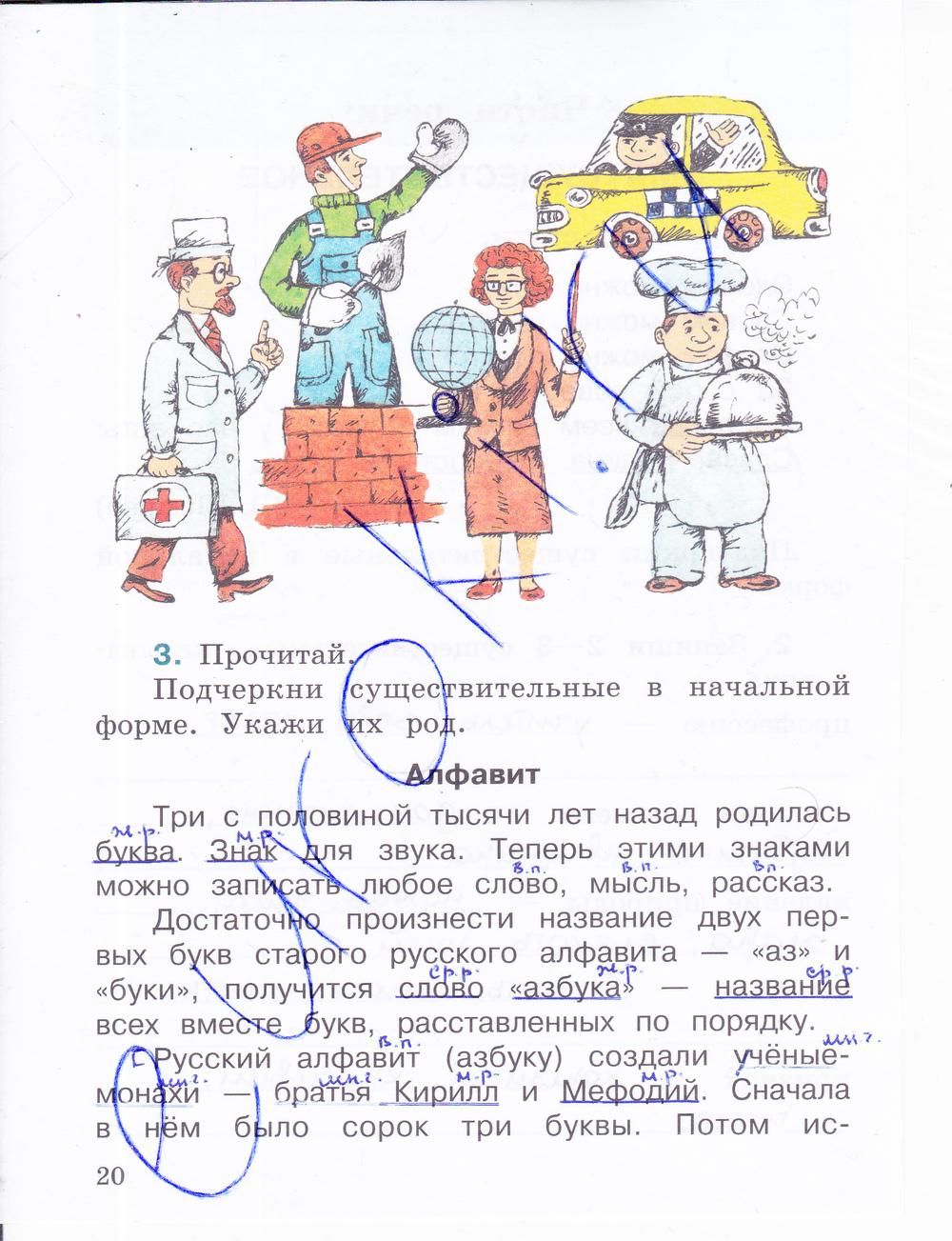 язык.рабочая в тетрадь. 2-х класс. решебник 4 зеленина хохлова русский