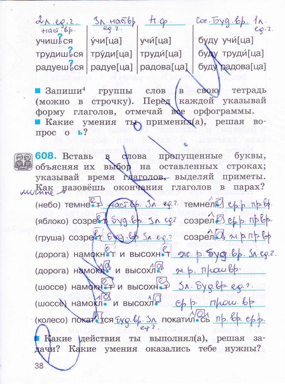 4 класс язык русский гдз корешкова
