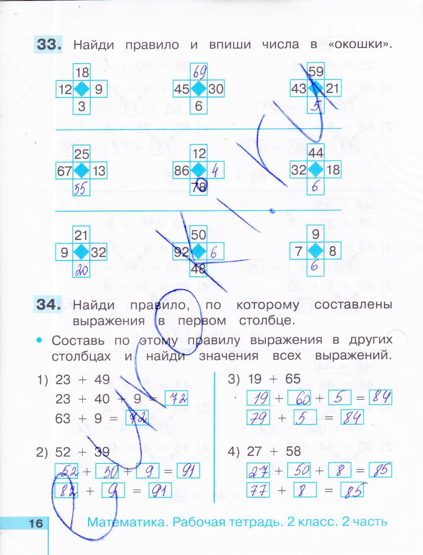 Тетрадь класса рабочая истомина 2 решебник по математике