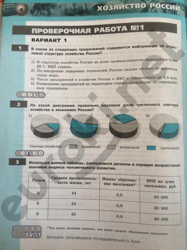 Тетрадь Экзаменатор 6 Класс Барабанов Решебник
