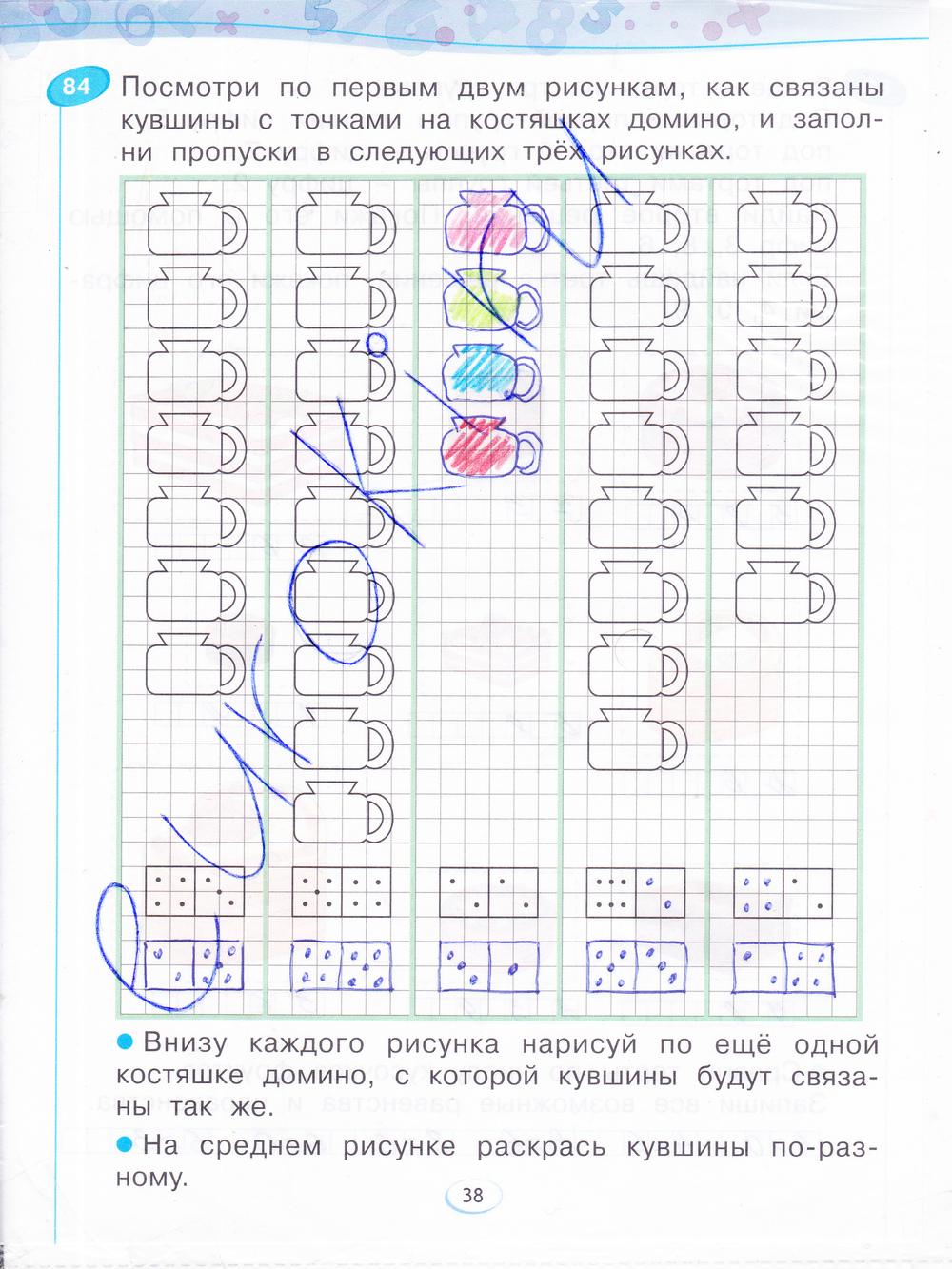 Гдз математика 1 класс 2 часть рабочая
