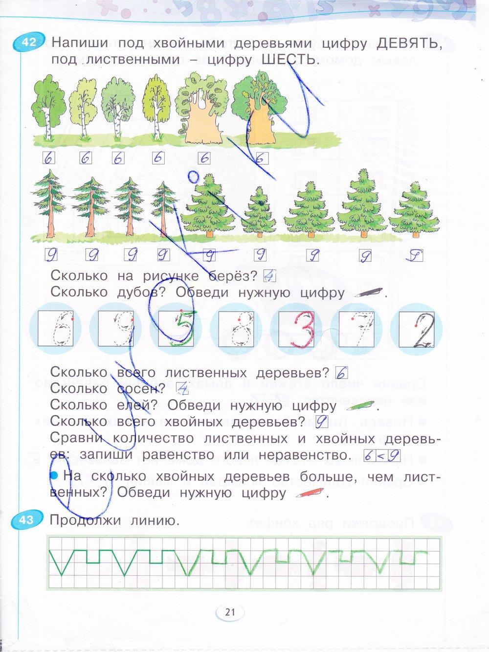 класс 1 решебник бененсон рабочая тетрадь по математики