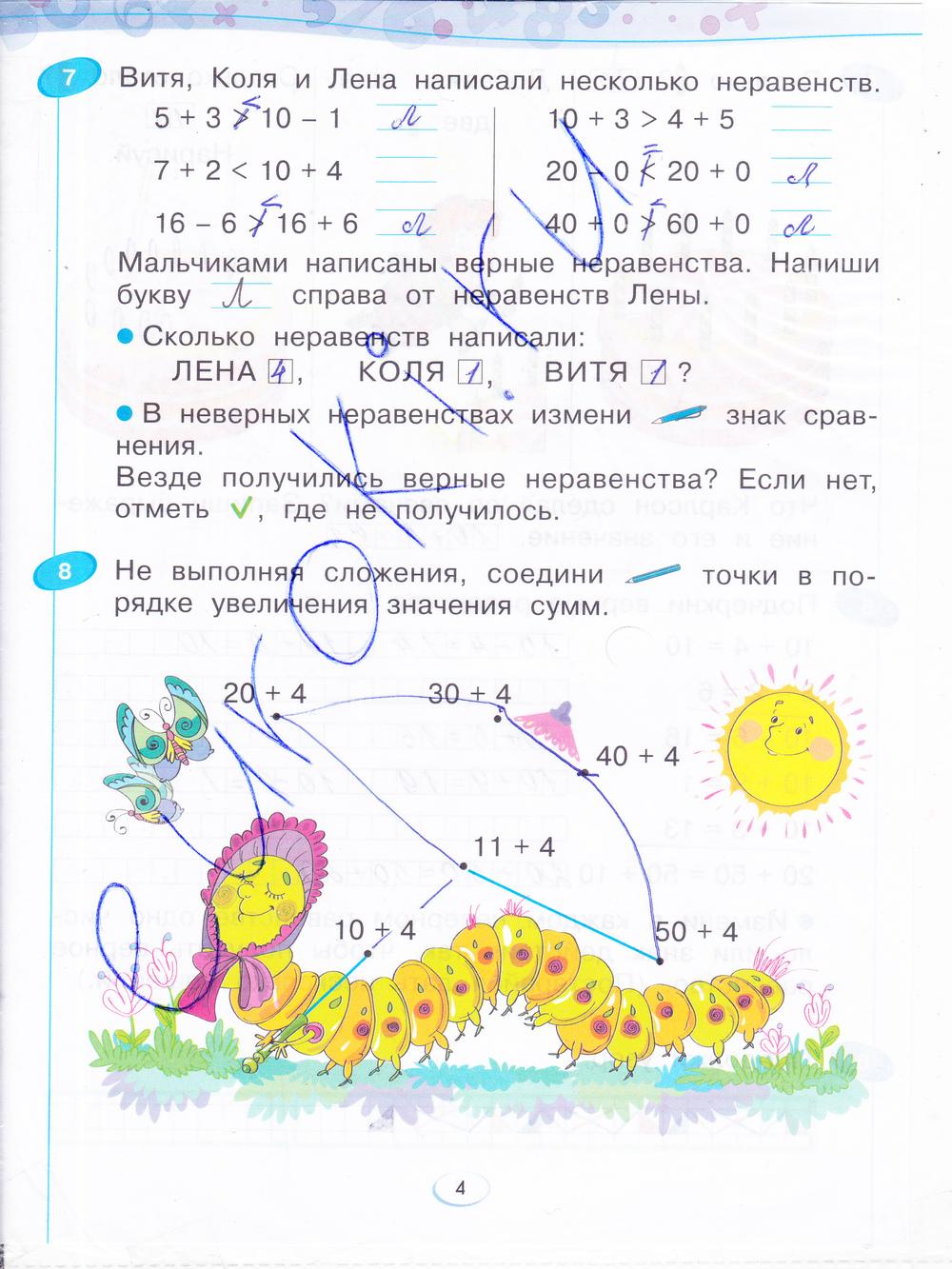 Ответы по математике 4 класс Бененсон (рабочая тетрадь)