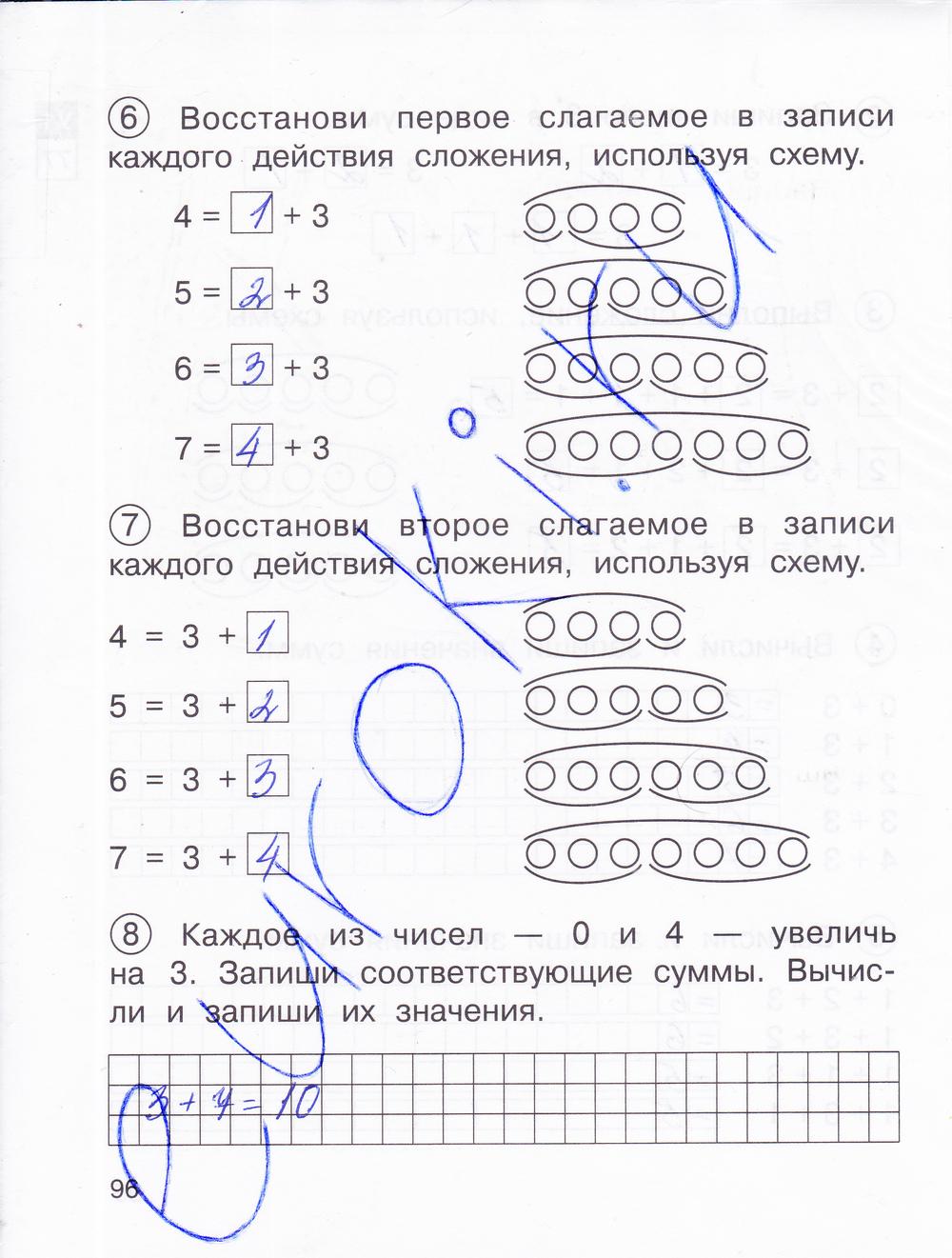 Класса 1 захарова для математике гдз по