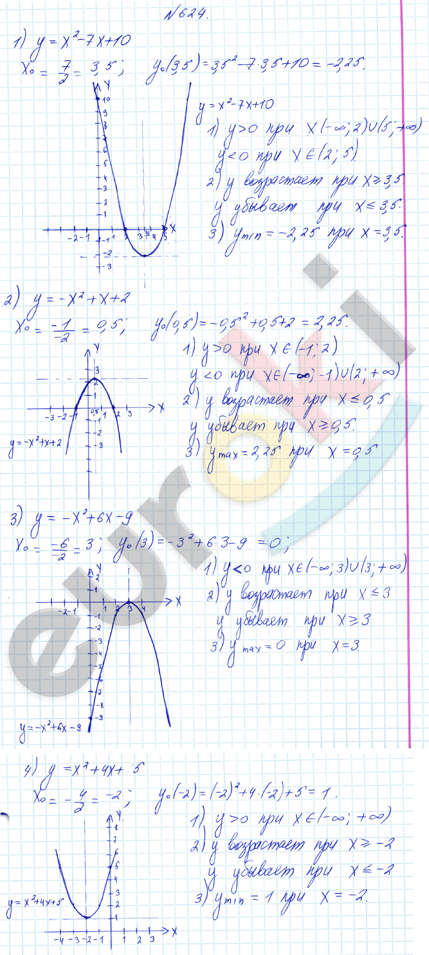 Класс номер 8 гдз 624 алимов по алгебре