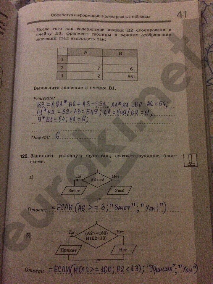 ГДЗ по информатике 9 класс Босова