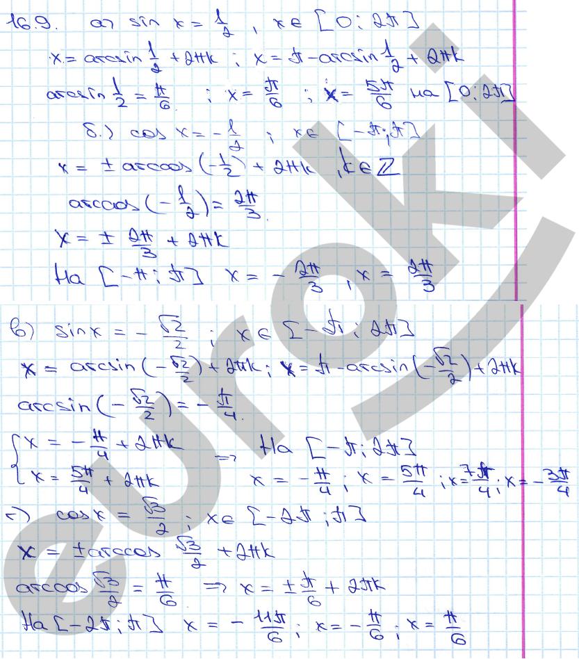 Гдз тригонометрия 10 класс теляковский алгебра