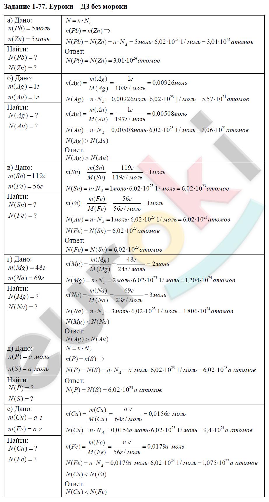 Решебник По Задачнику Химии 8 Класс Кузнецова Левкин Ответы
