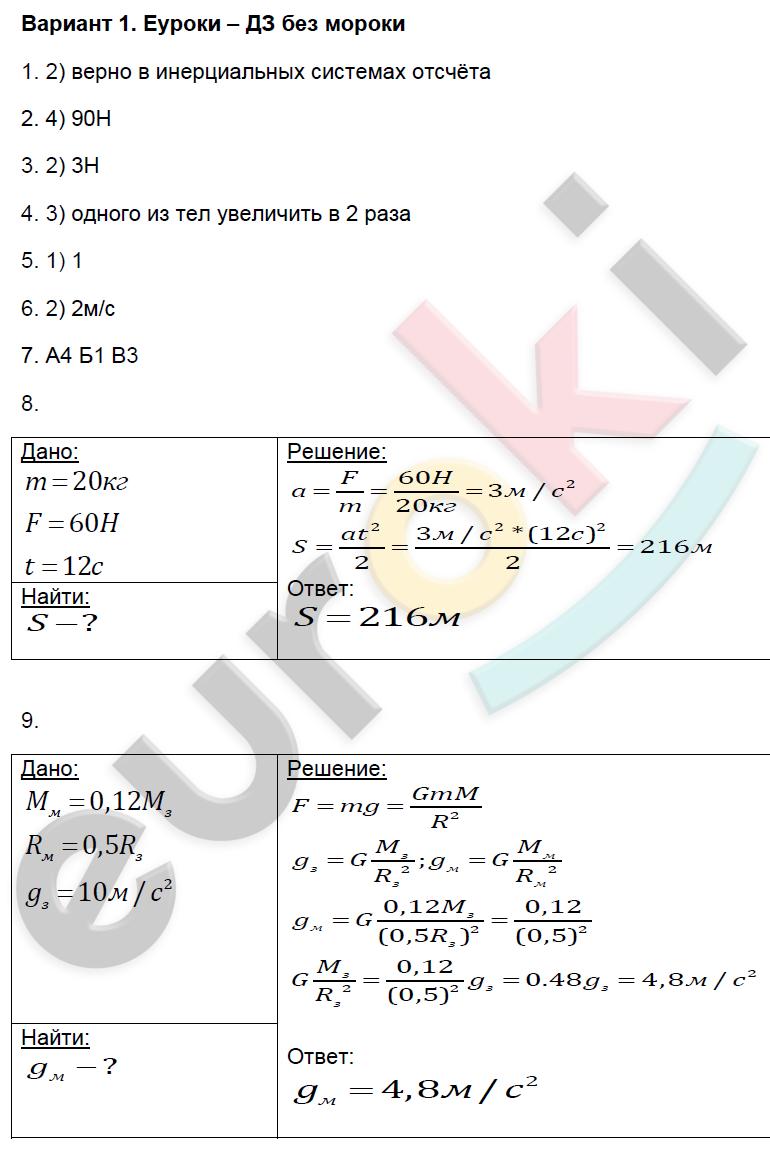 динамика физика 9 класс может быть верным