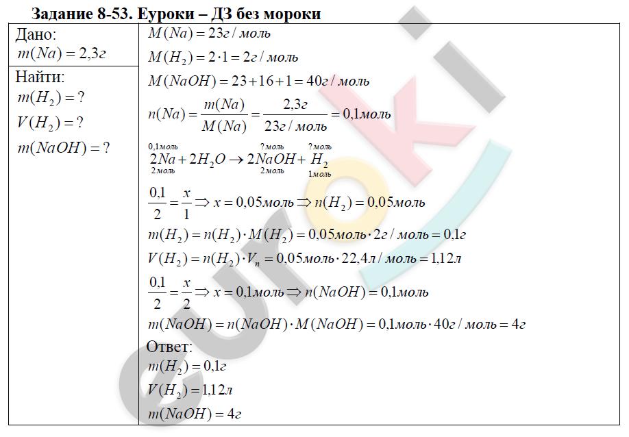 Химия кузнецова задачник левкин 9 класс гдз задачник