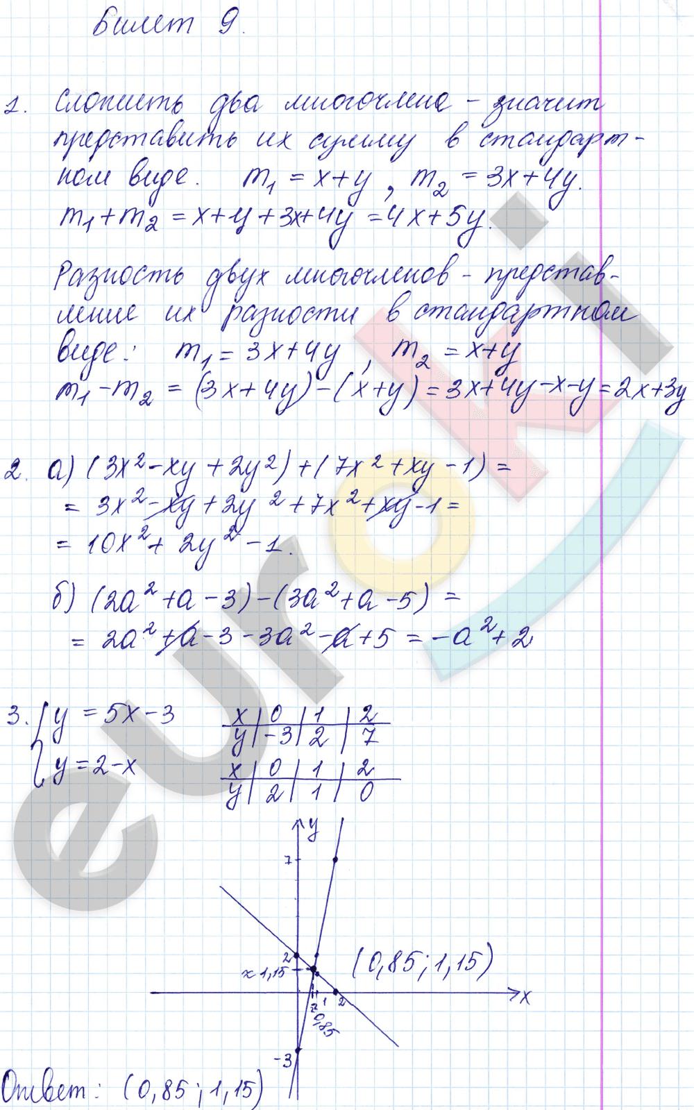 дьяконова дидактическим решебник 7 класс звавич к алгебра